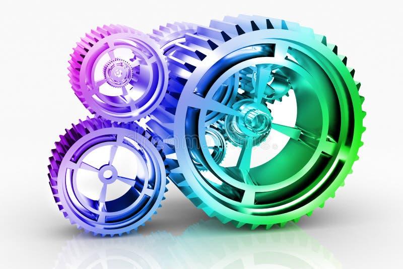 设备齿轮 库存例证