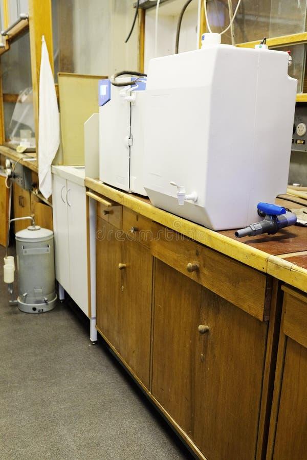 设备水净化系统 库存图片
