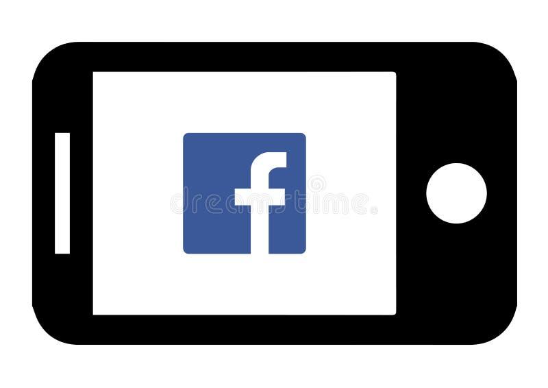设备Facebook象设计 音频,图表 库存例证
