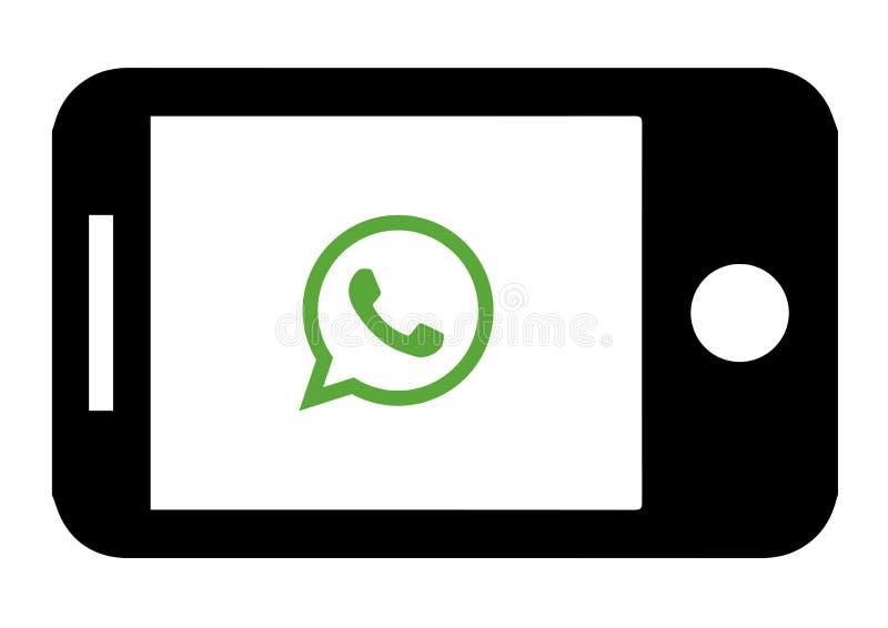 设备Whatsapp象设计 音频,图表 皇族释放例证