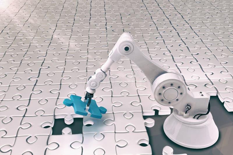 设定七巧板3d的机器人的综合图象