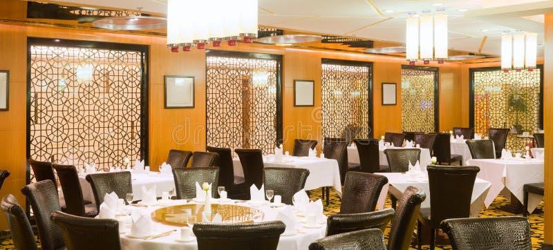 设宴传统中国大厅的interio 免版税库存照片