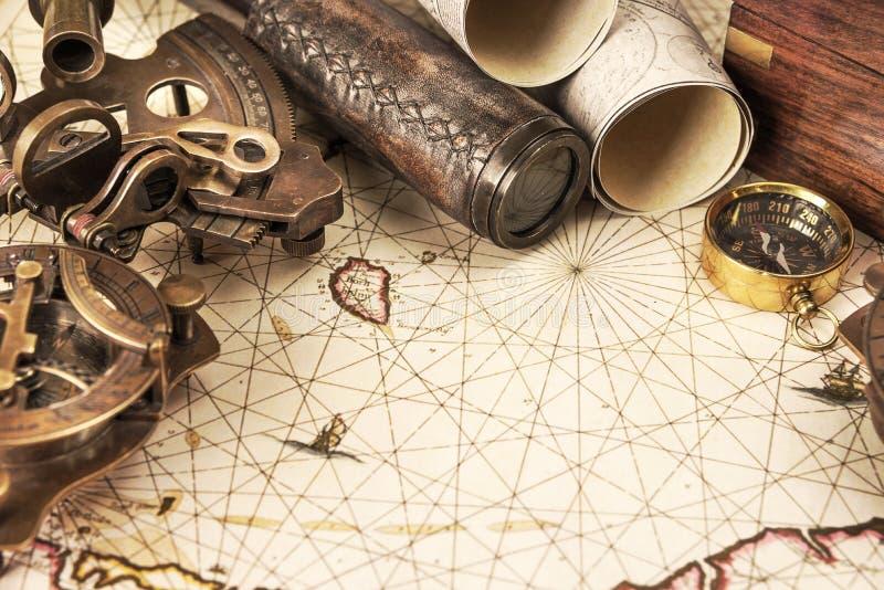 设想在古色古香的样式:冒险 免版税图库摄影