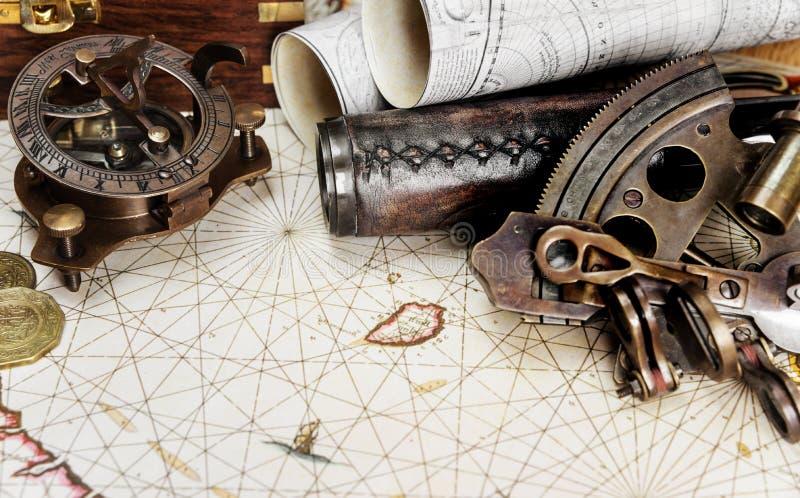 设想在古色古香的样式:冒险 免版税库存图片