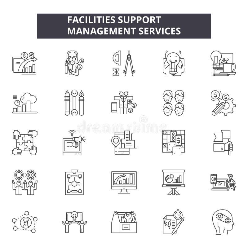设施支撑线象,标志设置了,传染媒介 设施支持概述概念,例证:支持,概念 库存例证