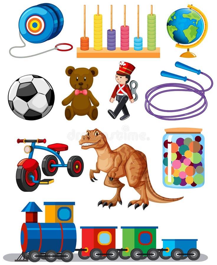 设置不同的玩具 向量例证
