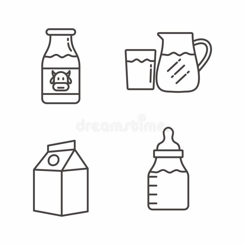 设置与概述设计的牛奶象 牛奶传染媒介例证 库存例证