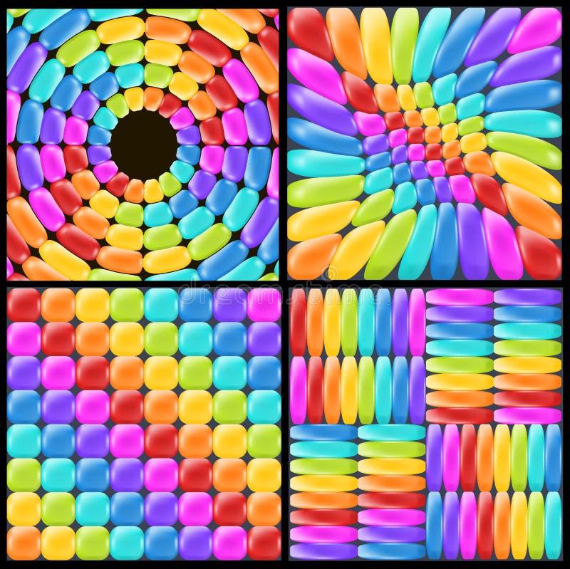 设置与现实光滑的元素的彩虹背景 装饰和selebration的乐趣抽象背景 皇族释放例证