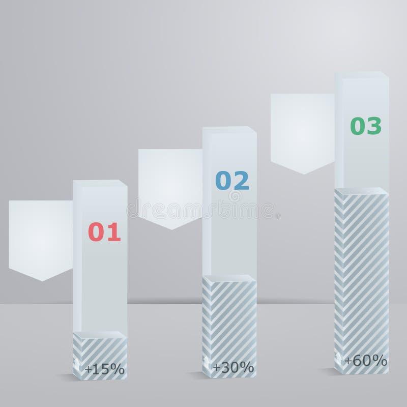设置专栏3D与选项的 皇族释放例证