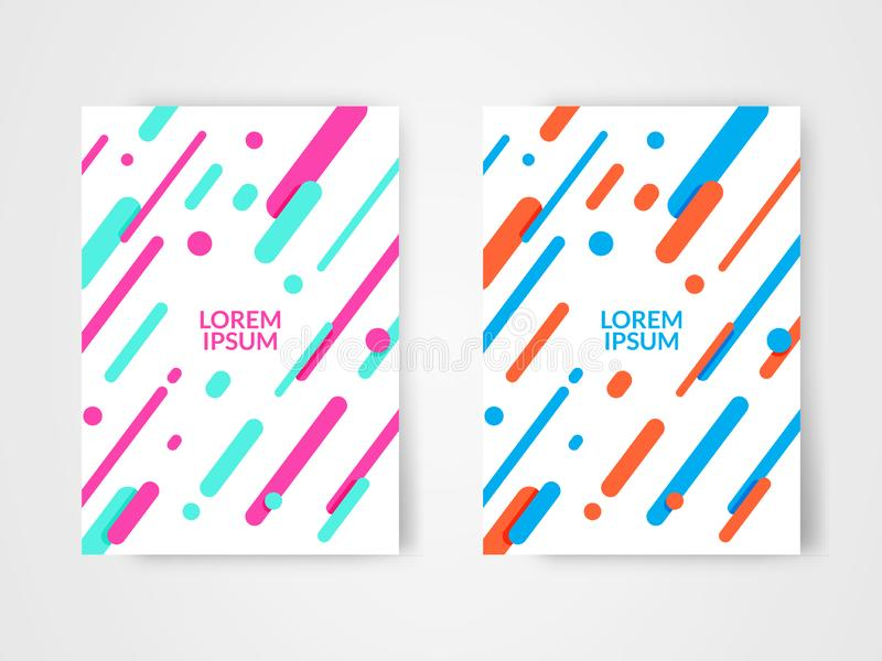 设置两现代抽象几何背景设计模板 向量例证