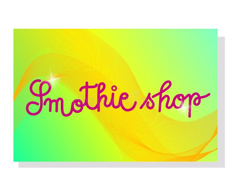 设置两Smothie商店证件或名片模板 o 传染媒介i 免版税库存图片