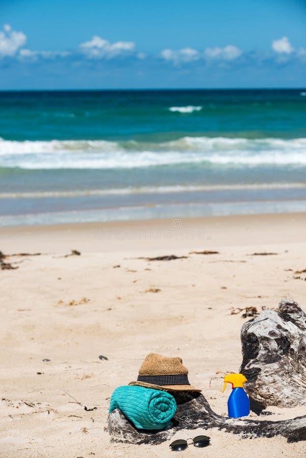 设置为海滩 库存照片