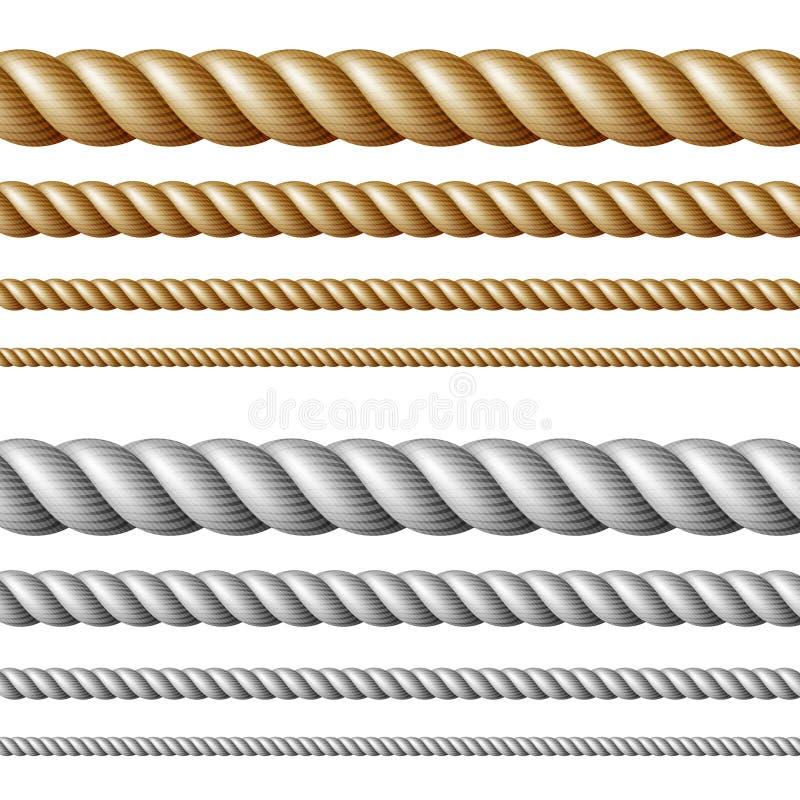绳索设置了 库存例证