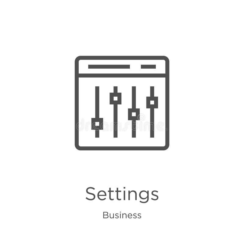设置从企业汇集的象传染媒介 稀薄的线设置概述象传染媒介例证 r 库存例证
