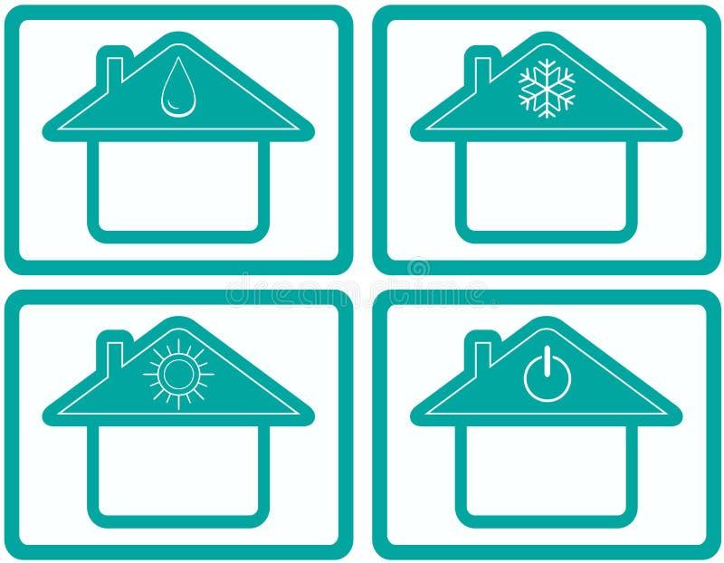 设置从调节剂气候控制的按钮 向量例证