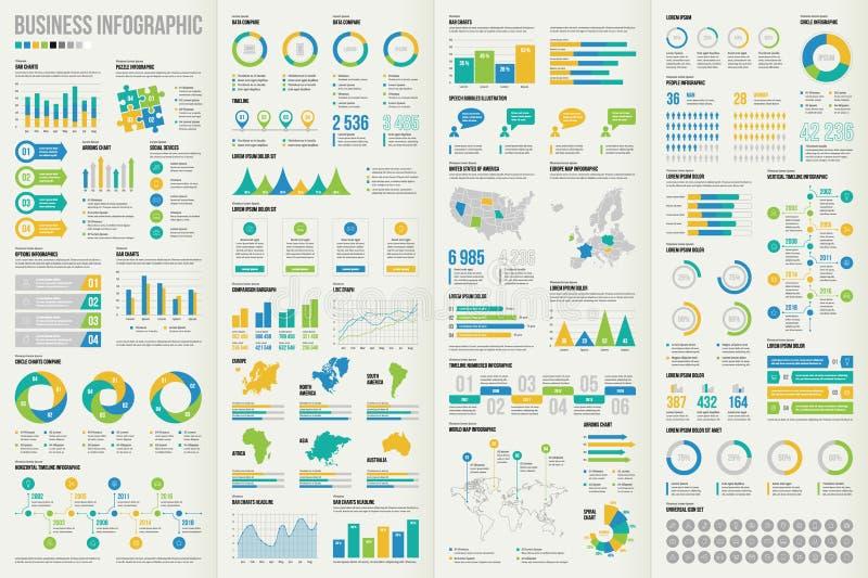 设置传染媒介infographic元素 免版税库存照片