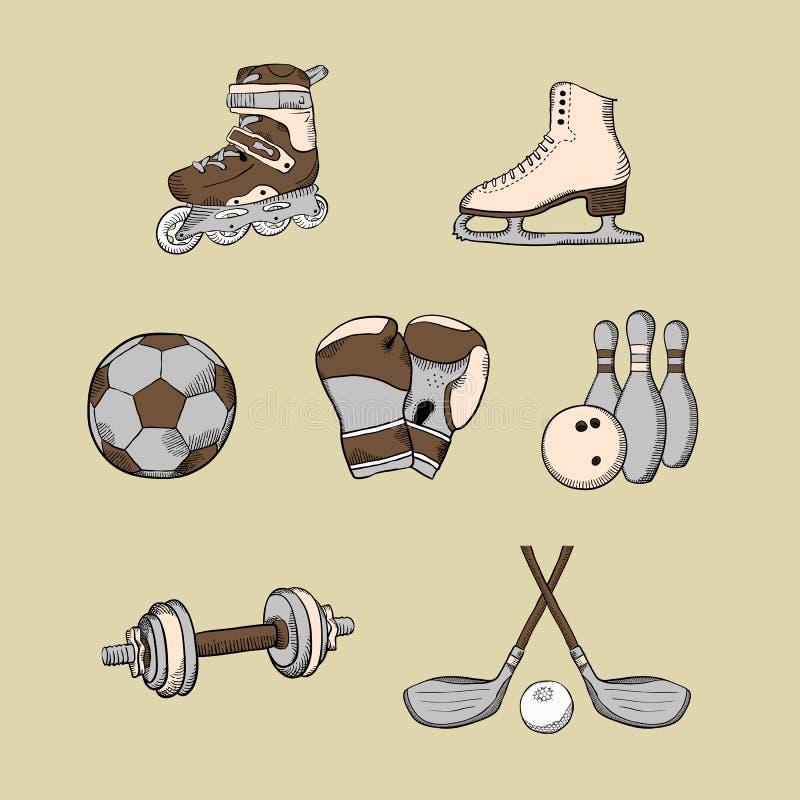 设置体育运动 库存例证