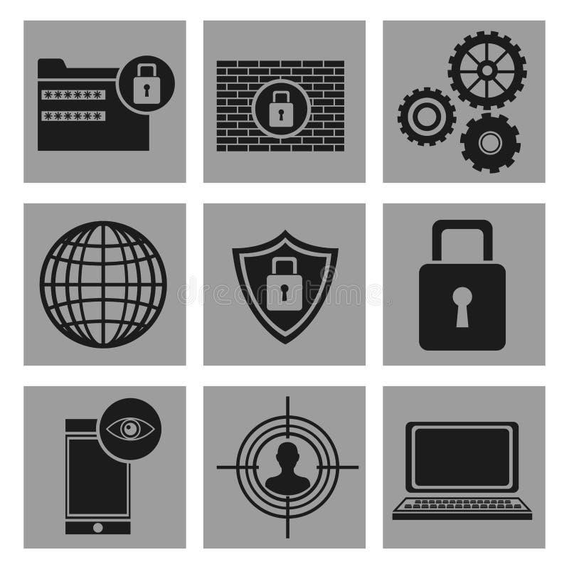 设置保安系统数据象 皇族释放例证