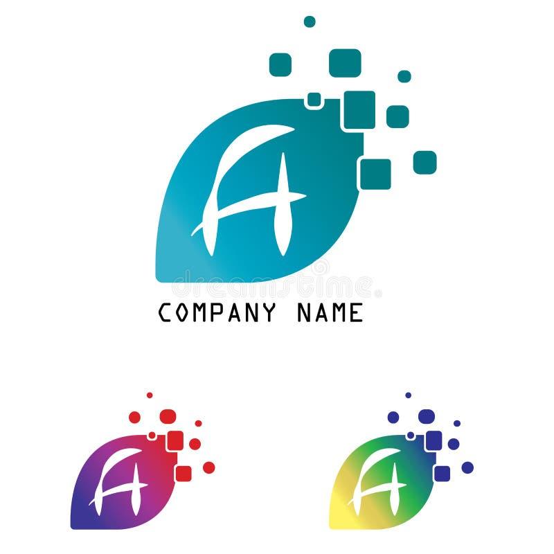 设置信件在白色隔绝的一个商标设计 向量例证