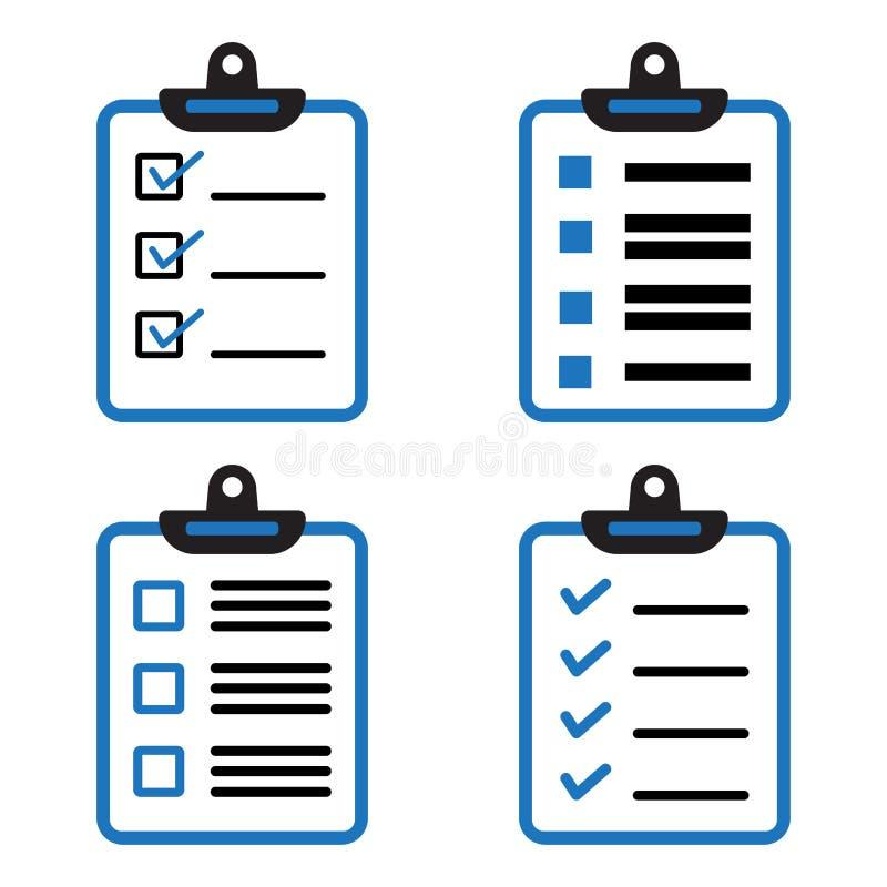 设置剪贴板或清单象 也corel凹道例证向量 皇族释放例证