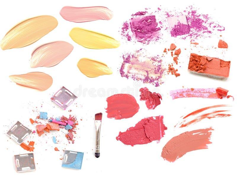 设置化妆产品孤立 组成产品 免版税图库摄影
