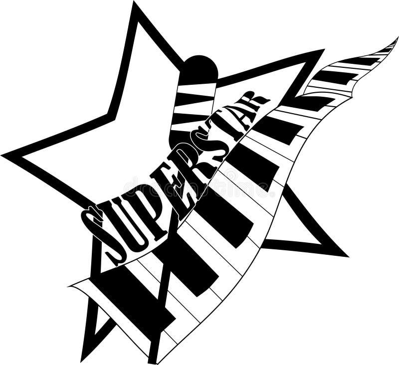 设置卡拉OK演唱相关葡萄酒标签,徽章和设计元素 在白色背景隔绝的话筒 ?? 库存例证