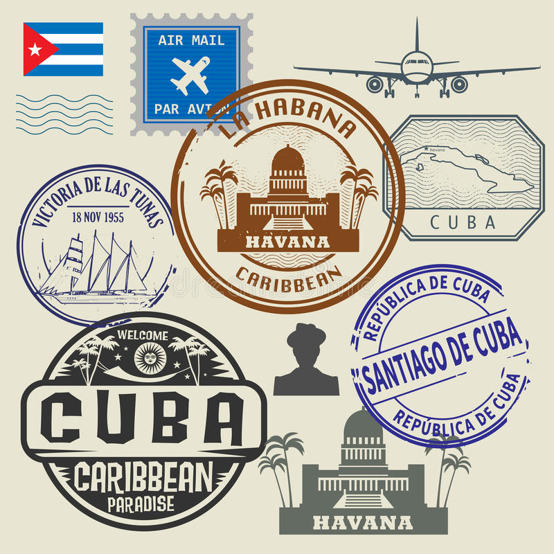 设置印花税旅行 向量例证