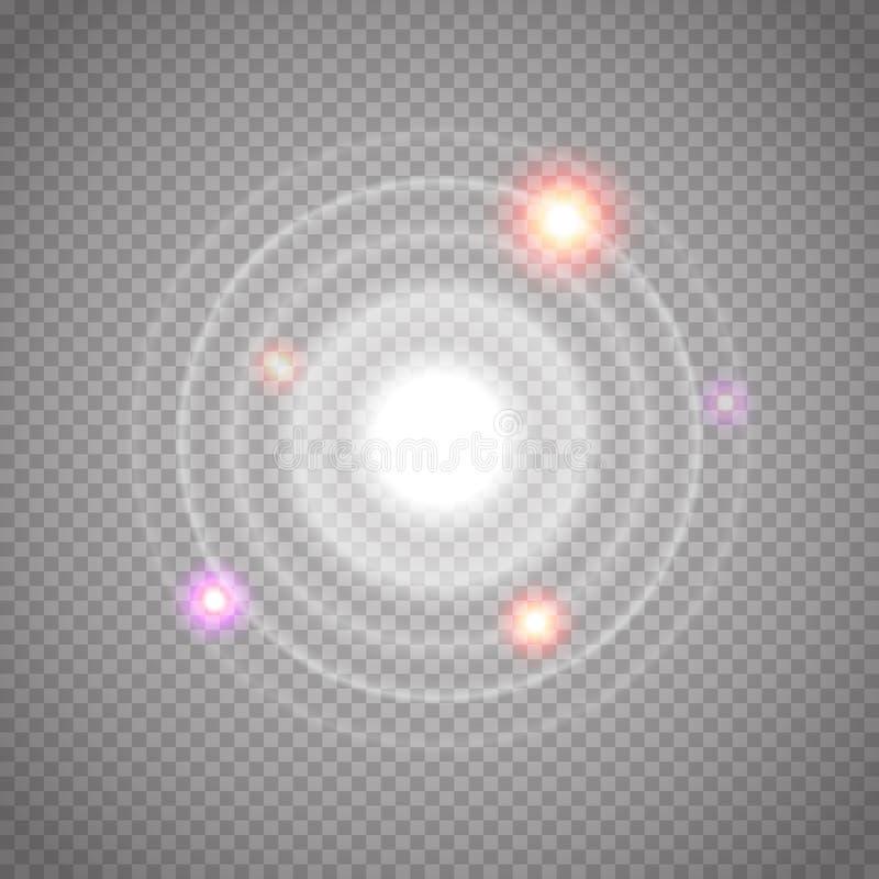 设置发光的生波探侧器波浪 也corel凹道例证向量 库存例证