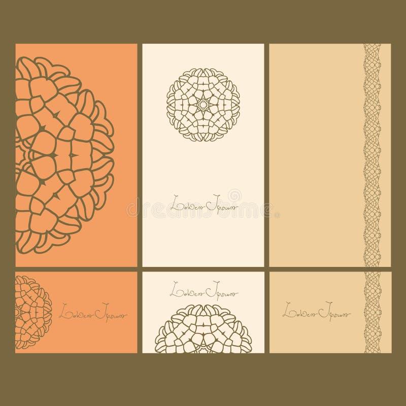 设置名片 卡片或邀请 模板设计卡片 艺术品企业公司本体模板向量 坛场设计 库存例证