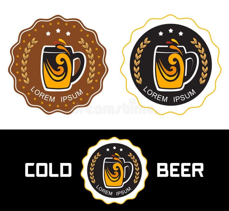 设置商标啤酒商店 皇族释放例证