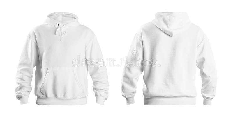 设置在白色背景、前面和后面看法的时髦的有冠乌鸦毛线衣 免版税库存图片