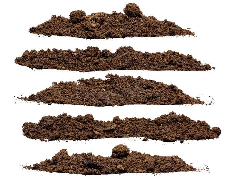 设置堆土壤 免版税图库摄影