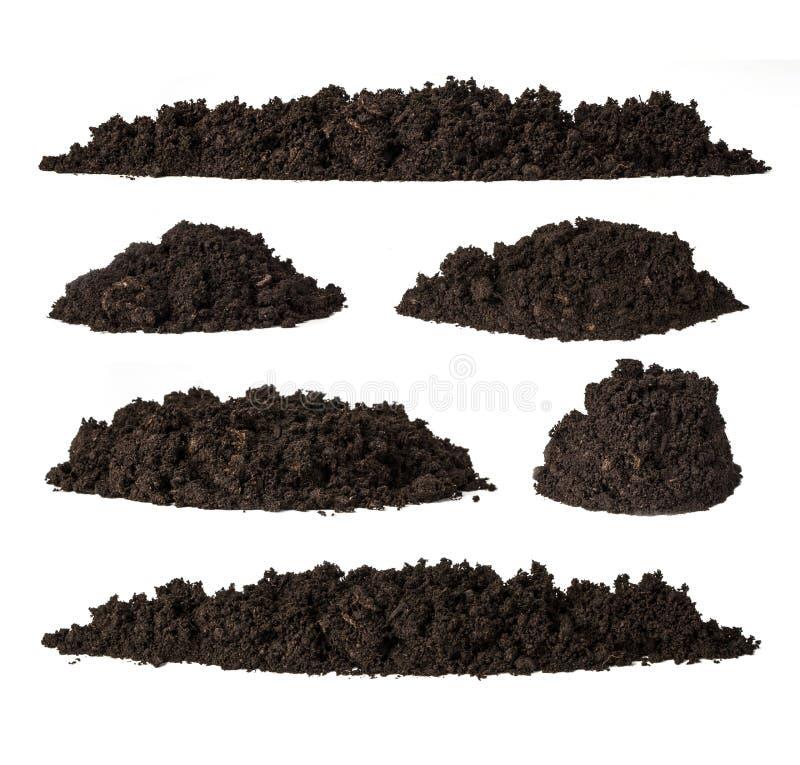 设置堆土壤 免版税库存图片
