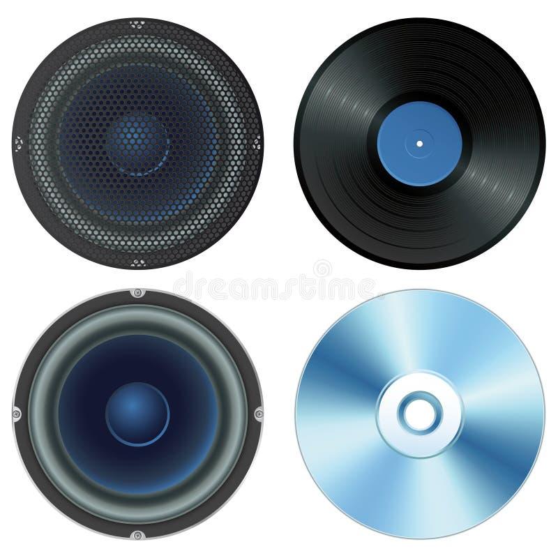 设置声音 库存例证