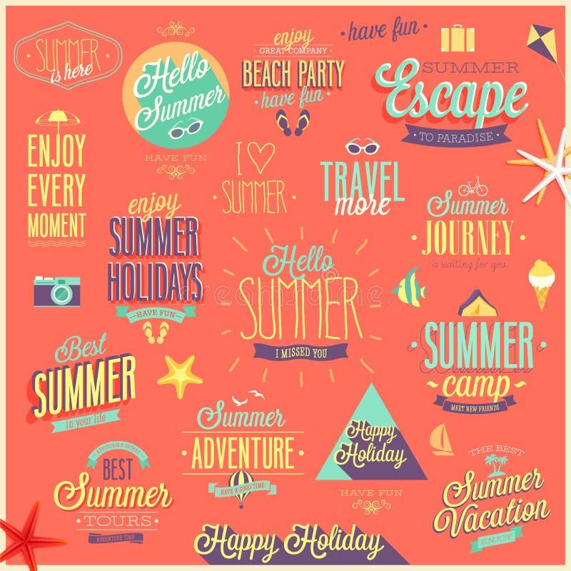 设置夏天旅行 向量例证