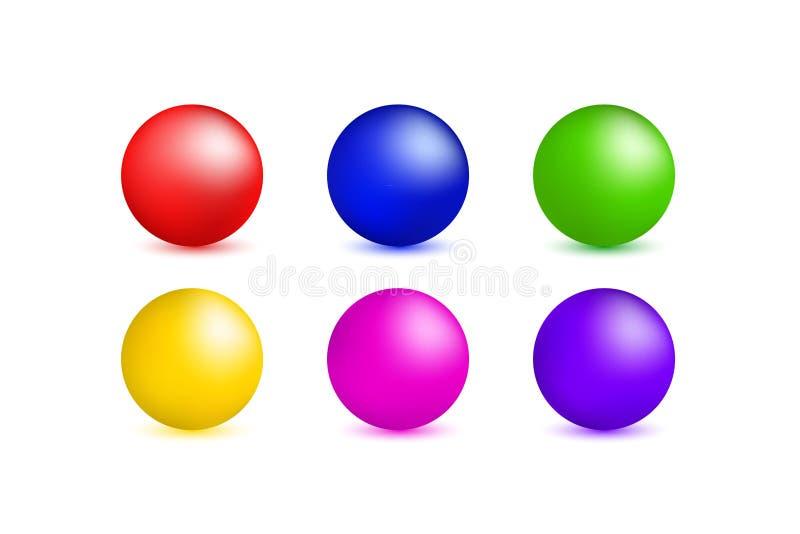 设置多彩多姿的圈子 库存例证