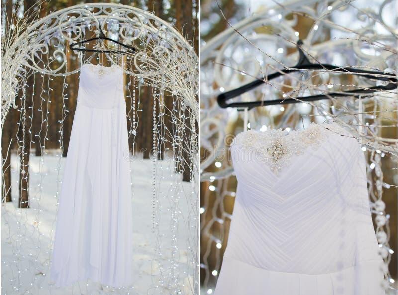 设置婚礼礼服 库存图片