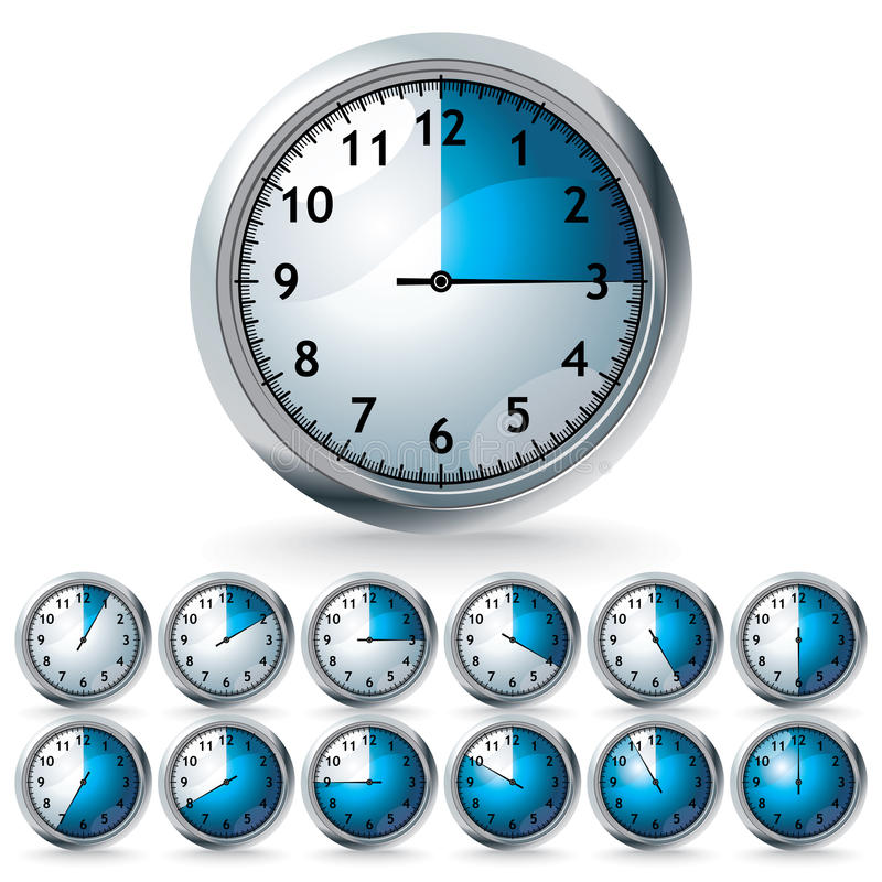 设置定时器向量 皇族释放例证