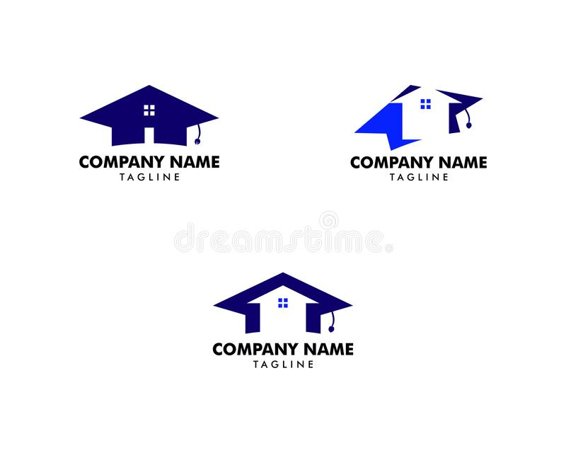 设置家教商标传染媒介模板 库存例证