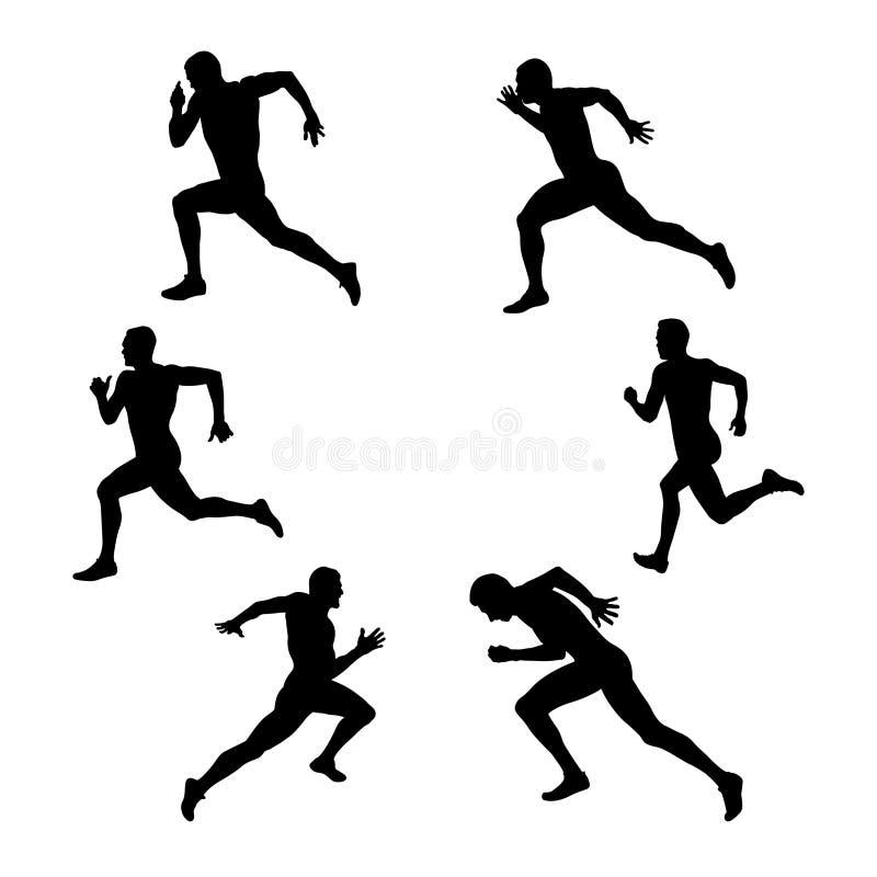 设置小组体育竞技 库存例证