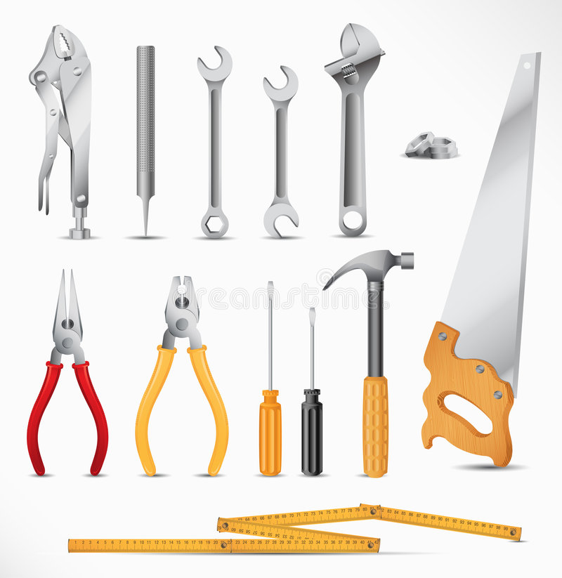 设置工具 向量例证