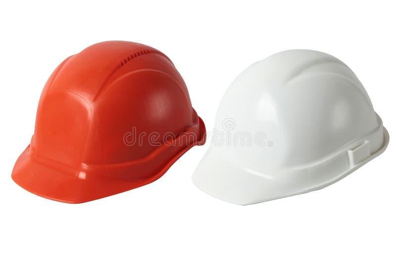 设置工程师盔甲,被隔绝的白色背景 免版税图库摄影