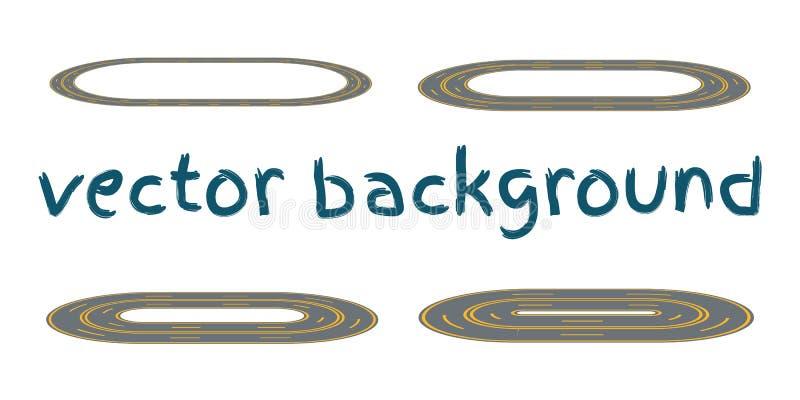 设置弯曲的路线 库存例证