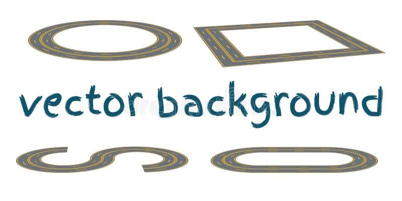设置弯曲的路线 向量例证