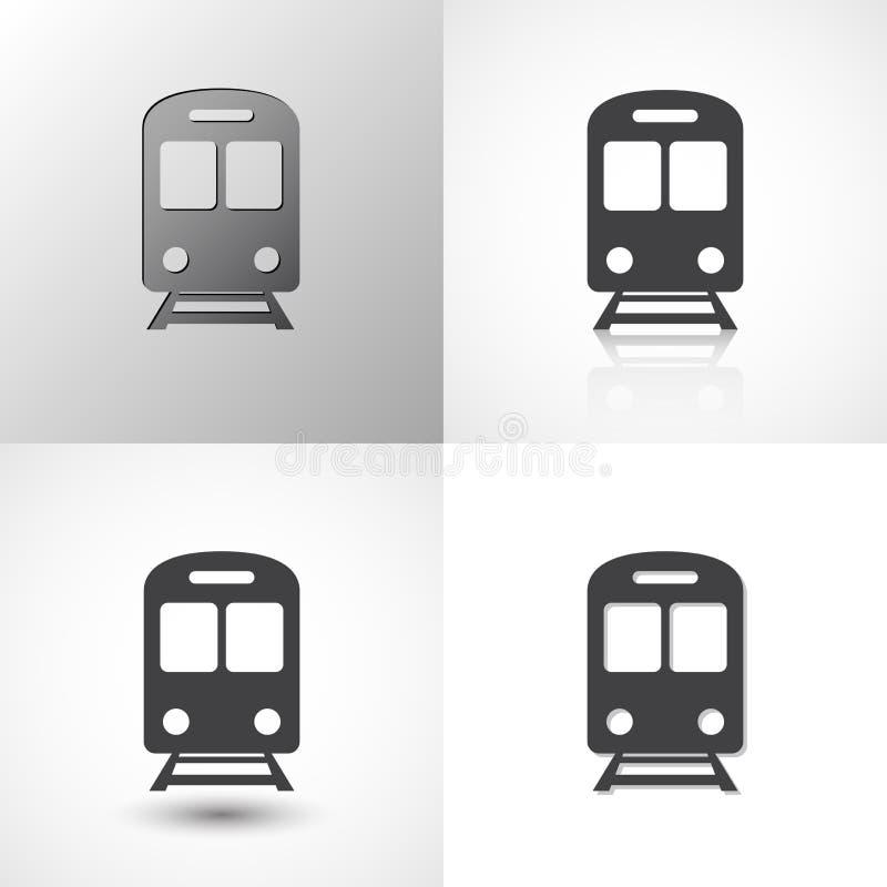 设置所有场合的火车象 向量例证