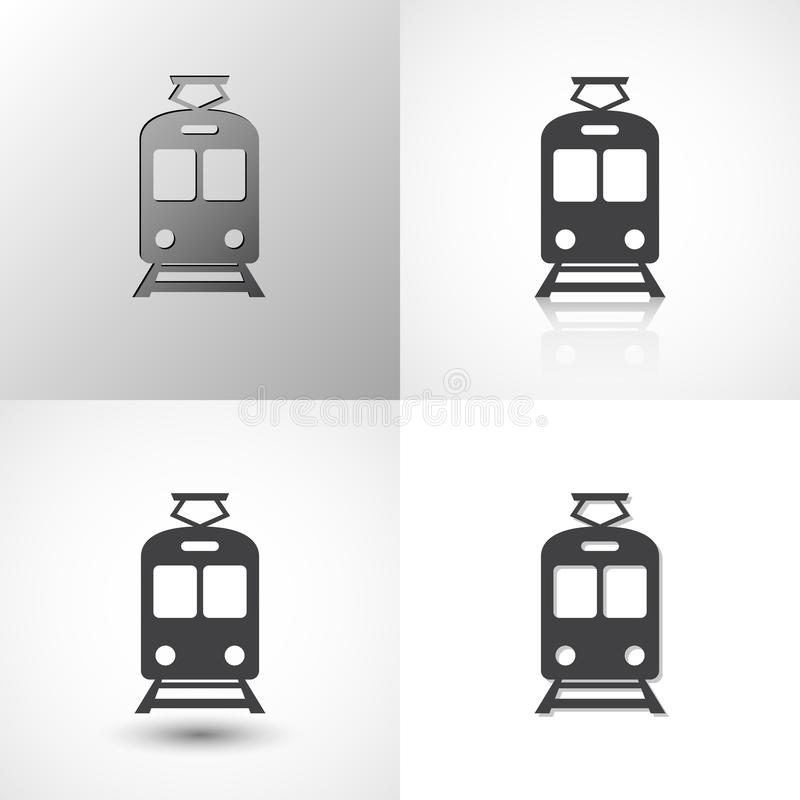 设置所有场合的火车象 皇族释放例证