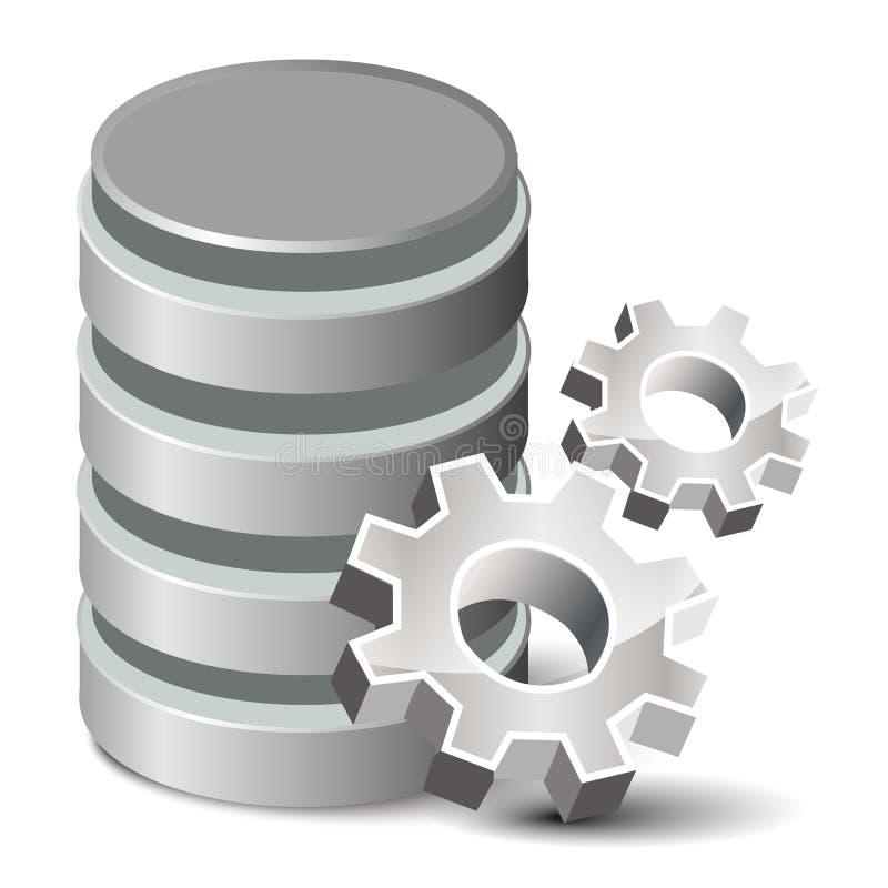 设置数据库 库存例证