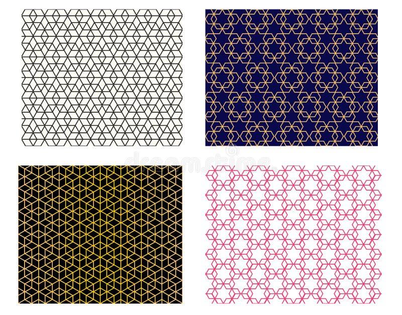 设置无缝的伊斯兰教的样式,传染媒介艺术 库存例证