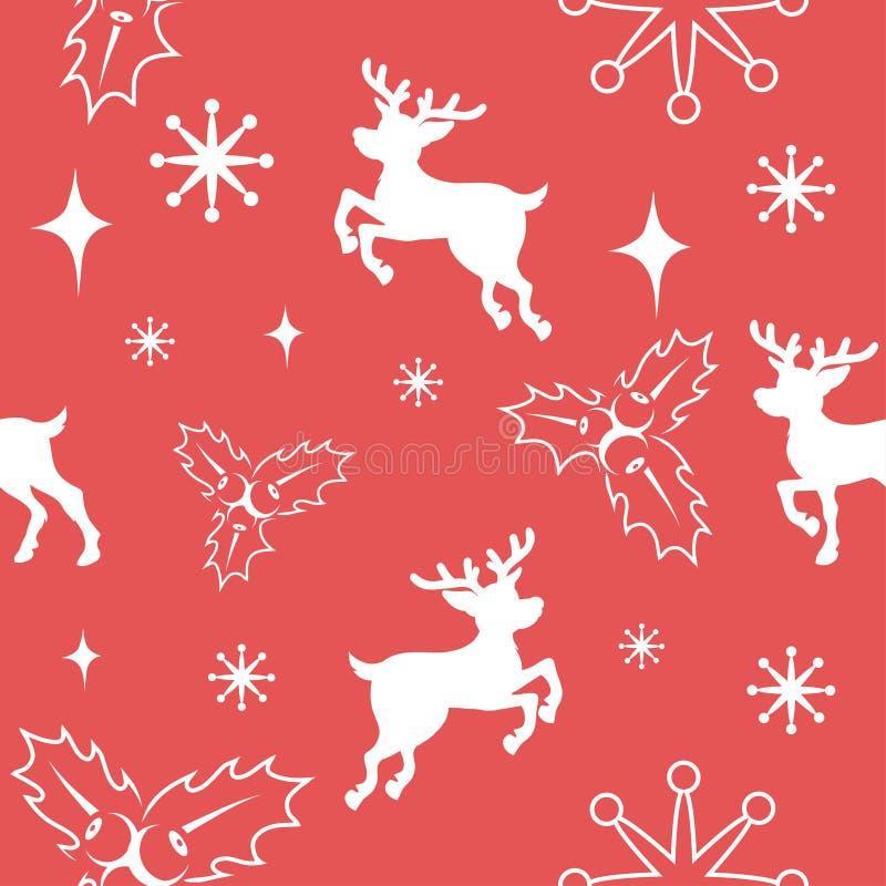 设置无缝的圣诞节样式 设置圣诞节的另外样式 以圣诞节字符的形式新年样式 皇族释放例证