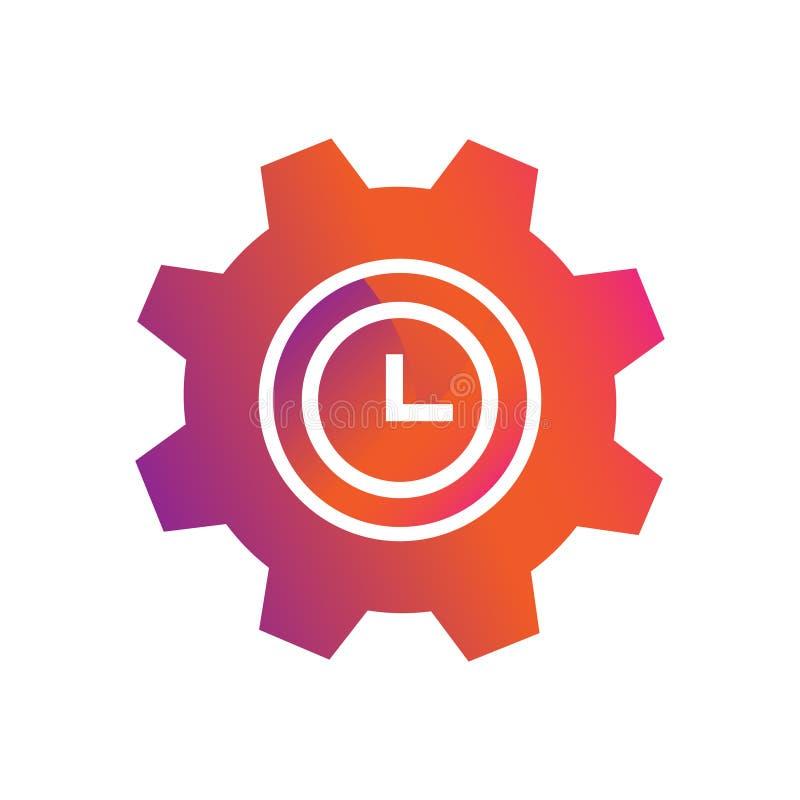 设置时间按钮传染媒介象 向量例证